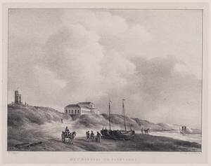 Kustlandschap met het badhuis te Zandvoort