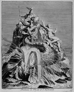 Fontein met Perseus en Andromeda