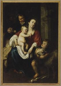 De Maagd Maria en het kind met de Heilige Anna en het kind Johannes de Doper als kind