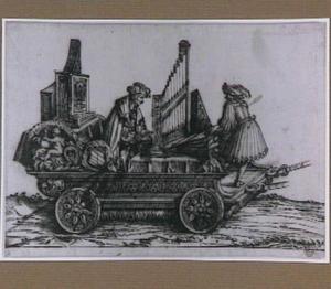 Wagen met orgelspeler