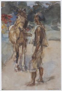 Javaanse man met paard
