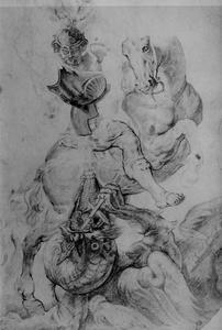 Sint Joris in gevecht met de draak