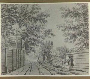 Landschap achter de buitenplaats 'Leeuw en Hooft' bij Heemstede