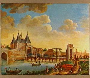 De intocht van de Pruisische troepen bij de Leidsepoort op 10 oktober 1787
