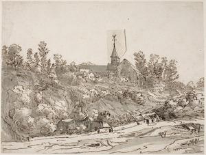 Heuvellandschap met klooster