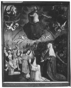 Het Laatste Oordeel met een stichtster, zeer waarschijnlijk Yzobel de Malfiance, bursier van een cisterciënser klooster bij Douai