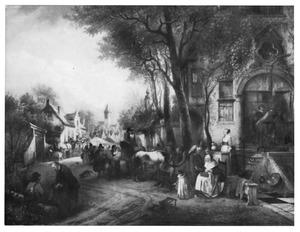 Marktdag in het dorp