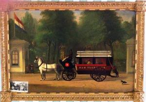 De omnibus voor de hoofdingang van Artis
