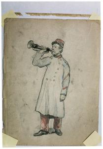 Militair met trompet