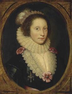 Portret van een vrouw, traditioneel geïdentificeerd als Lady Corbett