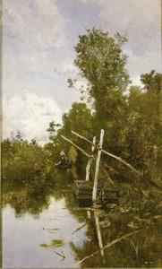 Gezicht op de polder bij Kortenhoef