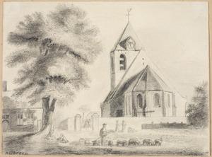 De kerk in het dorp Renkum