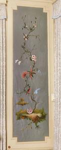 Chinoiserie met tak, bloemetjes en vogel