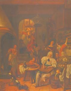 Christus in het huis van Marta en Maria