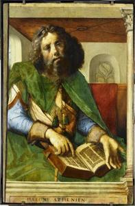 Plato (429-347 voor Chr.) uit de serie 'Beroemde Mannen'
