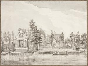 Gezicht op Hofstede Rijnrust (Rhijnlust?) in Bodegraven