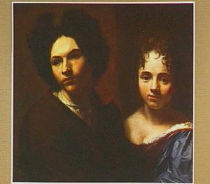 Dubbelportret van een onbekende man en vrouw