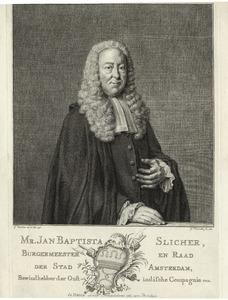 Portret van Jean Baptiste Slicher (1689-1766)