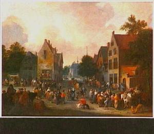 Markt op een dorpsplein