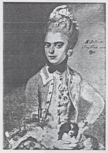 Portret van Anthonia Dorothea Stein von Gollonesse