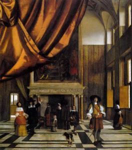 De Raadskamer van het stadhuis in Amsterdam
