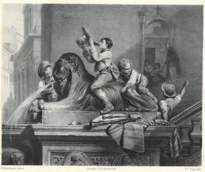De Basalt-Leeuwen van het Kapitool