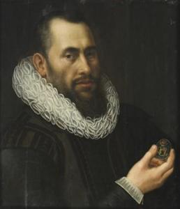 Zelfportret van Laurens van der Plas (1570-1629)