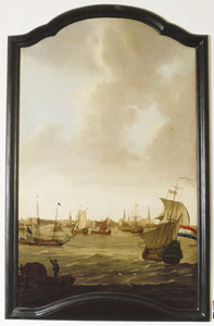 Zeegezicht met zeilschepen