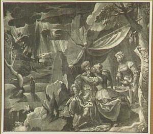 Lot wordt door zijn dochters dronken gemaakt, zodat ze gemeenschap met hem kunnen hebben (Genesis 19:30-38)