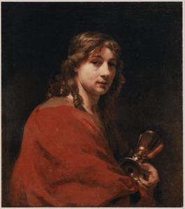 Zelfportret van Willem Drost (1633-1659) als Johannes de Evangelist