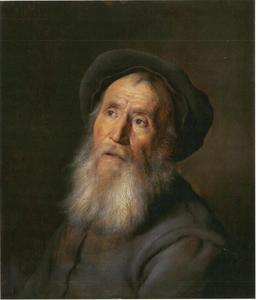 Gebaarde man met een baret