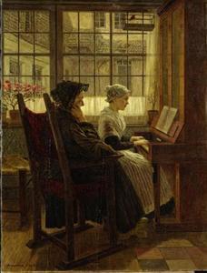 Jong Hollands meisje aan de piano