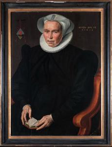 Portret van Ludovica Wijnkoop (1546-1614)