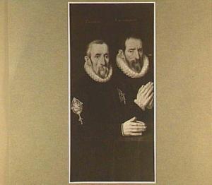Dubbelportret van de schutters P. Cooman en F. du Moncheau