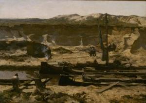 Zanderij in de duinen
