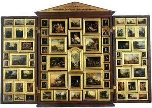 Morgenstern'sches Miniaturcabinet II met 75 miniaturen naar originele schilderijen