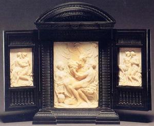 Vermoedelijk in de 18de eeuw samengesteld drieluik met Lot en zijn twee dochters (midden), Mars en Venus (links) en Venus en Adonis (rechts)