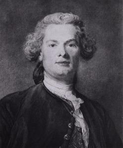 Portret van een man, mogelijk Jean Baptiste Perroneau (1715-1783)