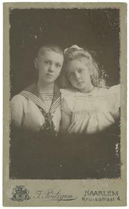 Portret van Frederik Carel Lodewijk Kuipers (1894-1945) en Nancy Kuipers (1897-...)