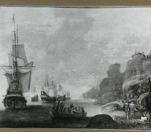 Een paar, achtergelaten op een onbewoond eiland (Jacob Cats, Houwelick III, Bruit)
