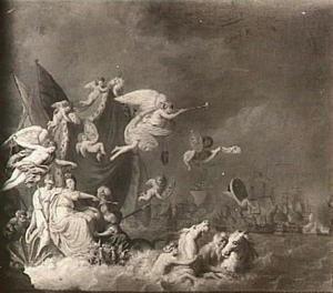 Allegorie op de overwinning van Catharina de Grote op de Turken, 27 september 1770