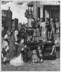 Ecce Homo met de stichter vergezeld door de H. Hieronymus