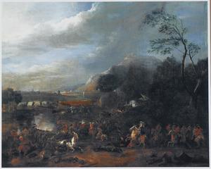 Lodewijk XIV tijdens het beleg van Namen, 1692