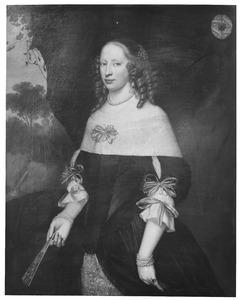 Portret van Margaretha Riccen (....-1681)