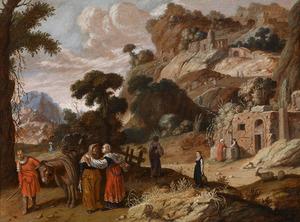 Ruth vertelt Noömi dat zij bij haar zal blijven; Orpa keert terug naar haar familie (Ruth 1:11-17),