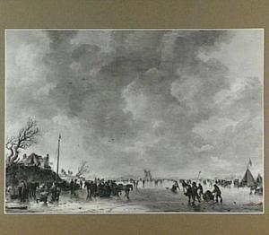 IJsgezicht, met op de achtergrond Huis te Merwede bij Dordrecht