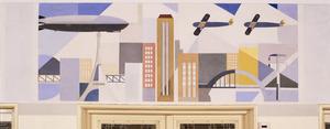 De moderne stad, vervoer door de lucht