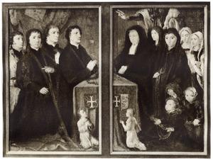 Luiken met de gebedsportretten van de families Uitenhage-Akersloot