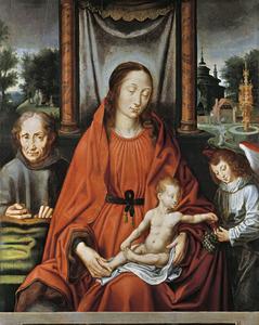 Tronende Madonna met een onbekende donor