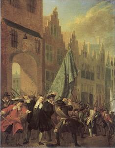 De aanslag op de gebroeders De Witt bij de Gevangenpoort in Den Haag op 20 augustus 1672